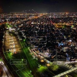 夜の都市の眺めの写真・画像素材[3394664]