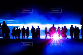 ライトアップの光と影の写真・画像素材[4415339]
