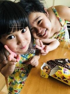 お揃いワンピース☆の写真・画像素材[3438902]
