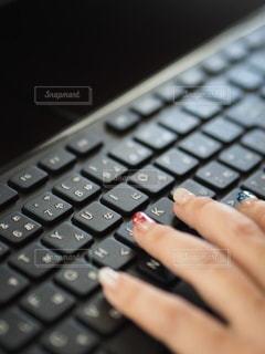 コンピュータキーボードのクローズアップの写真・画像素材[3512575]