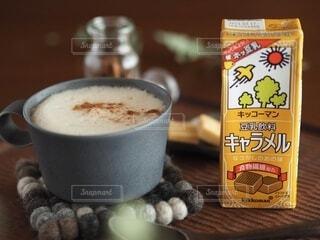 キッコーマンの豆乳・キャラメルの写真・画像素材[3776978]