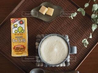 豆乳・キャラメルの写真・画像素材[3776981]