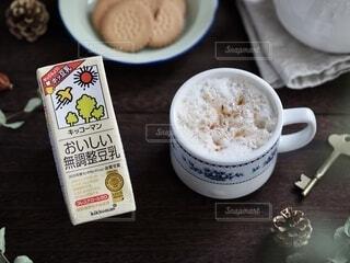 豆乳フォームティーの写真・画像素材[3783354]