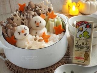 デコ豆乳鍋の写真・画像素材[3789495]