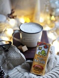 豆乳飲料キャラメルの写真・画像素材[3790636]