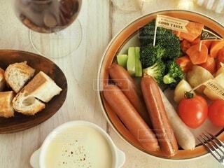 夕食,夕飯,ガーリック,スモーク,チーズフォンデュ,ジョンソンヴィル,レモン&ペッパー