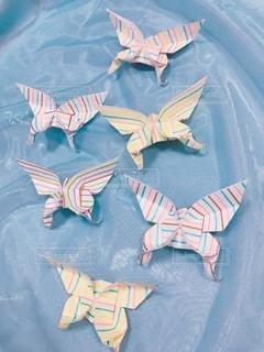 ちょうちょの折り紙の写真・画像素材[3417343]