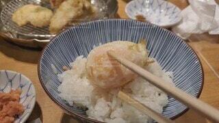 食べ物,食事,フード,皿,ごはん,箸,卵,ご飯,米,料理,おいしい,天ぷら,白米,飲食,ボウル,卵天