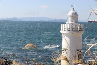 灯台と海の写真・画像素材[4157126]