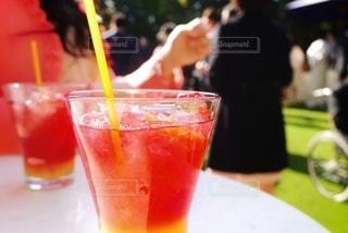 飲み物,庭,屋外,赤,ジュース,水,氷,ガラス,テーブル,コップ,ストロー,庭園,食器,グラス,カップ,カクテル,ドリンク,パーティー,アルコール,飲料,ノンアルコール,ガーデン,ソフトド リンク