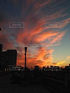 お台場の夕焼けの写真・画像素材[3434186]