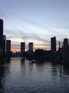 隅田川の夕焼けの写真・画像素材[3436097]