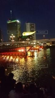 隅田川に輝く屋形船の写真・画像素材[3447853]