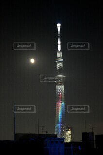 今夜の月の写真・画像素材[3945830]
