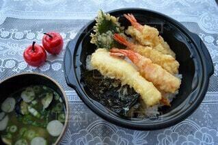 おうちで天丼の写真・画像素材[4176571]