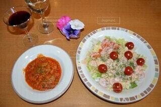 ある日の夕食の写真・画像素材[4372358]
