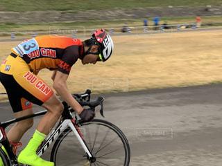 自転車レース中の自分の写真・画像素材[3457021]