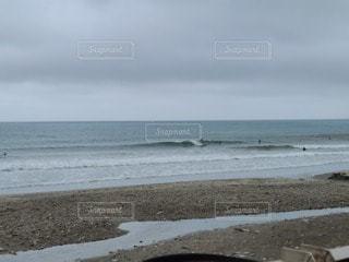 海の隣の砂浜の写真・画像素材[3440689]