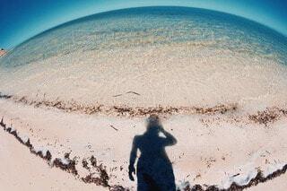 丸い海の写真・画像素材[3623800]