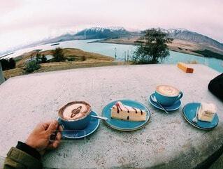 絶景の中で贅沢なコーヒータイムの写真・画像素材[3868446]