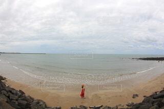 空と海は繋がってる...の写真・画像素材[4109338]