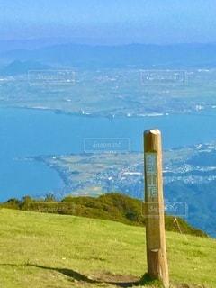 滋賀県蓬莱山の山頂からの爽快な景色の写真・画像素材[3579763]