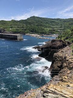 元乃隅神社から望む海岸の風景の写真・画像素材[3447943]