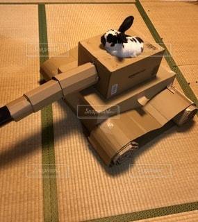 段ボール戦車inラビットの写真・画像素材[3448271]