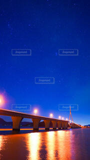 周防大橋と星空の写真・画像素材[4761773]
