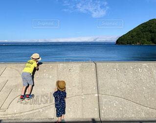 夏の青森の海の写真・画像素材[4650343]