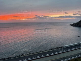 自然,海,空,屋外,湖,ビーチ,雲,船,水面,海岸,日の出