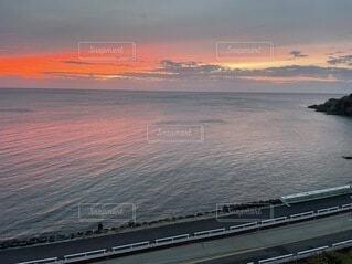自然,海,空,屋外,湖,ビーチ,雲,船,水面,日の出