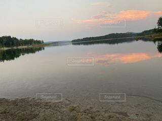 自然,風景,空,屋外,湖,雲,川,水面,反射,樹木