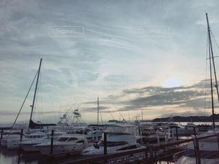 空,夕日,海岸,夕方