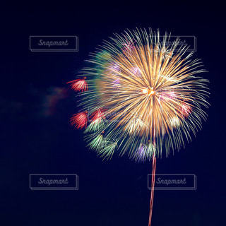 空の花火の写真・画像素材[3460274]