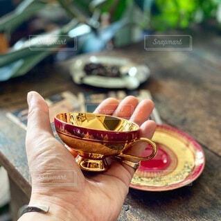 デミタスコーヒーカップの写真・画像素材[3676225]