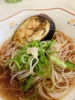 食べ物,夏,食事,野菜,そうめん,料理,日本食,麺,和,ネギ,食,さっぱり,茄子,夏野菜,日本の夏,生姜,つゆ,素麺,なすび