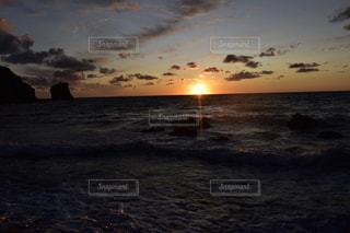 礼文島の夕暮れの写真・画像素材[3477292]