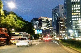 街の通りの眺めの写真・画像素材[3525081]