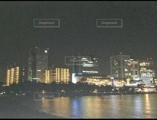 お台場海浜公園(夜景)の写真・画像素材[3525132]