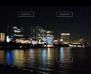 お台場海浜公園の夜景の写真・画像素材[3525133]