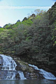 自然,屋外,川,水面,山,滝,樹木