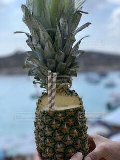 パイナップルジュースの写真・画像素材[4677084]