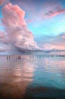 水色の光景の写真・画像素材[4842049]