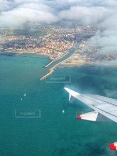 ローマの空港に間もなく到着の写真・画像素材[3524171]