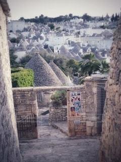 アルベルベッロの石造りの街並みの写真・画像素材[3525175]