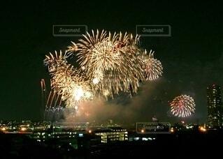 多摩川花火大会の写真・画像素材[3619260]