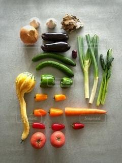 野菜の色を楽しむの写真・画像素材[3713870]