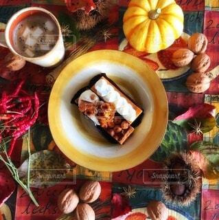 秋のおうちカフェの写真・画像素材[3792944]