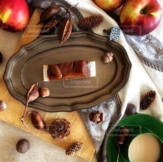 タルトタタンで秋のティータイム♪の写真・画像素材[3883371]